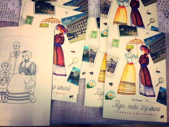 """""""Rīgas modes 20.gs. sākumā. Izkrāsojamā grāmata"""""""