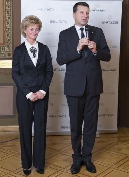 Raimonds Vējonis un viņa kundze Iveta Vējone
