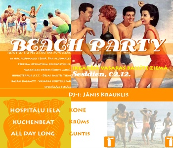 """Beach Party"" Flyer"