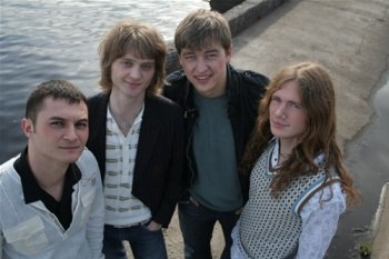 "Grupa ""Laime Pilnībā"", foto: Roberts Blumbergs"