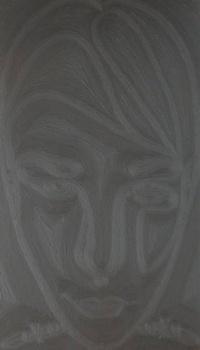 """""""Melnais taisnstūris"""", 80 x 140 cm, a/akrils"""